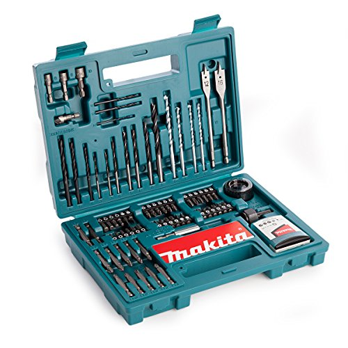 Makita B-53811 Drill & Screwdriver Bit Accessory Set (100 Piece), Multi-Colour, Set of 100