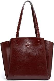 Cxhsz New Fashion Simple Multi-Function Large Capacity Shoulder Bag Shoulder Slung Leather Handbag Casual Fashion (Color : Brown)