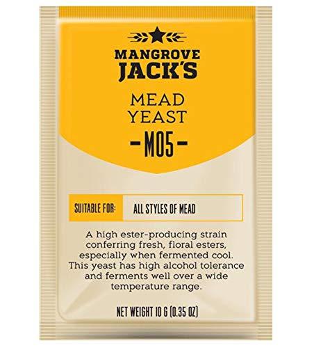 AlcoFermBrew Miel Vino Levadura–10G/25L–Mangrove Jack 's–seco methefe–| metwein | Vino Levadura | Levadura Vino Blanco y Rojo Vino Natural Levadura