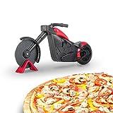 KATELUO Bicicleta Cortador de Pizza,Cortador Pizza Motocicleta,Corta Pizza Bicicleta,Las Herramientas Creativas Cocina Son Ideales para los Amantes de la Pizza. (Rojo)
