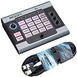 Zoom V3 Vocal Processor - Dispositivo di effetti + cavo microfono XLR Keepdrum da 6 m