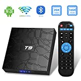 TUREWELL T9 Android 9.0 TV BOX 2GB RAM/16GB ROM Support 2.4/5.0Ghz WiFi BT4.0 RK3318 Quad-Core 4K 3D...