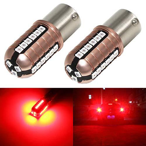 Phinlion 1156 LED Red Brake Light Bulb Super Bright 3000 Lumens 3030 27-SMD BA15S 1003 1156 7506 LED Bulbs for Turn Signal Brake Tail Stop Lights