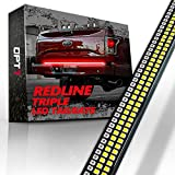 OPT7 60' Redline Triple LED Tailgate Light Bar w/Sequential Amber Turn Signal - 1,200 LED Solid Beam - Weatherproof No Drill Install - Full Function Reverse Brake Running