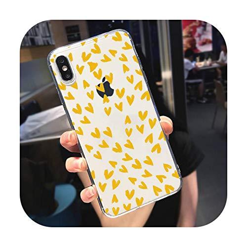 Love Universal Fashion Phone Case Transparente Suave Para iPhone 5 5S 5C SE 6 6S 7 8 11 12 Plus Mini X XS XR Pro Max A13-Para iPhone XR