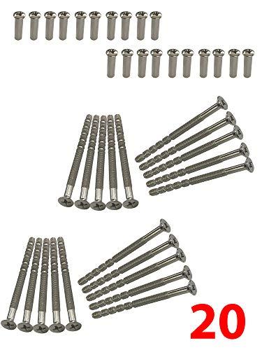M4-Schrauben und Hülsen (männlich zu weiblich), für Türgriffe, Knäufe, Schlossschilder und weitere, 20 Stück