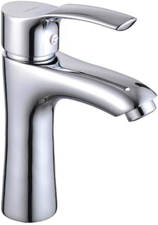 Faucet Waste Mono Spoutbasin Faucet Copper Hot and Cold Faucet Bathroom Single Handle Single Hole Washbasin Faucet