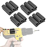 Spider Tool Holster - BitGripper v2 - PACK OF FOUR - Carry up to six driver bits on the side of your power drill or driver!