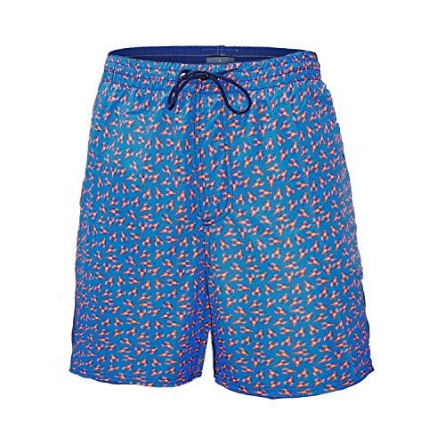 Navigare Costume Uomo Boxer Nylon Calibrato Taglie Forti Oversize Art. 998383 (5XL, Bluette)