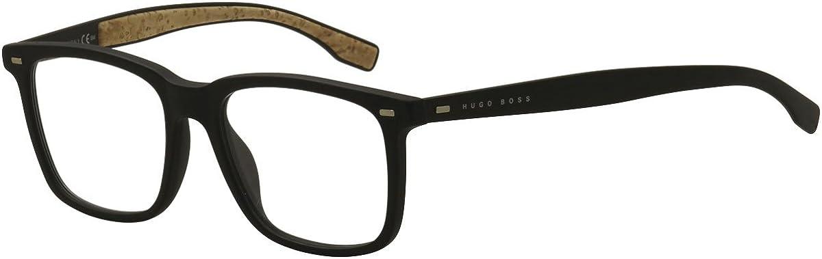 Boss hub Plastic Rectangular Eyeglasses 53 00R5 Black