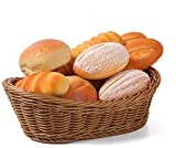 Oval Wicker Woven Basket Bread Roll Basket Serving Basket for Food Fruit Cosmetic Storage Tabletop and Bathroom, Kitchen Organizer - 11.42inch