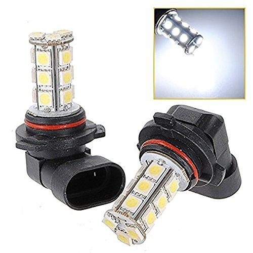 Katur lot de 2 pièces HB4 9006 Blanc 18 LED 5050 SMD Lampe lumière de voiture pour être vu dans le brouillard DRL