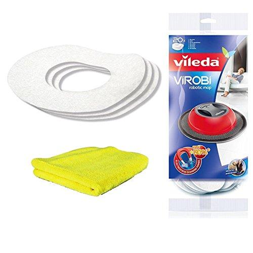 Vileda, panno lavabile di ricambio, Virobi Slim (2 confezioni da 20 pezzi)
