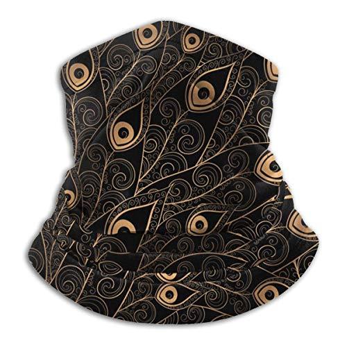 NA Sonnenschutz-Stirnband,Gold Black Peacock Feather Magic Stirnband, Schweiß Bequemer Gesichtsschutz Für Patry Adult Unisex,26X30Cm