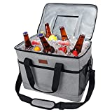 Fansteck Cooler Bag, Insulated Soft Cooler 30L Large Capacity Portable Shoulder Lunch Bag Thermal Meal for Camping, Parties, Delivery Bag