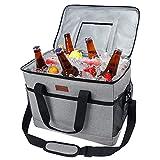 Fansteck保温袋,30L保温软保温袋,大容量手提肩便当袋,露营用热饮,聚会,送餐袋