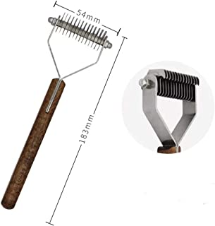 Undercoat Rake, Grooming Brush Tool Dogs & Cats - Safe Dematting Comb Easy Mats &