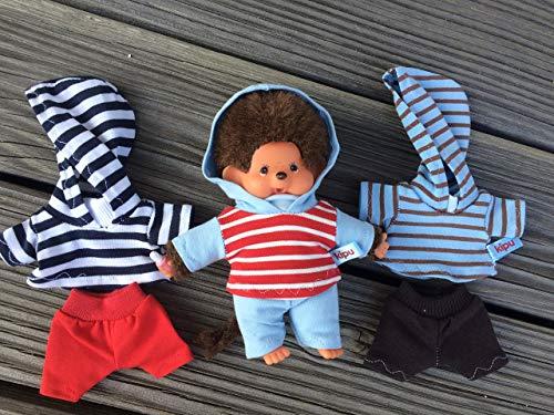 Puppenkleidung handmade passend für Bebichichi mini MONCHICHI Gr. 15 - 16 cm Kapuzenshirt + Hose Bekleidung NEU
