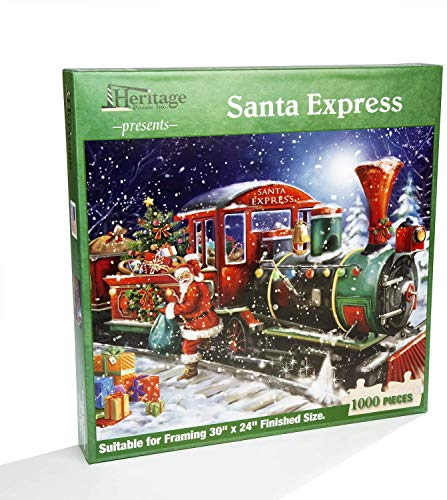 "Heritage Puzzle Presents: Santa Express - 1000 Pieces - 30"" x 24"" Finished Size"