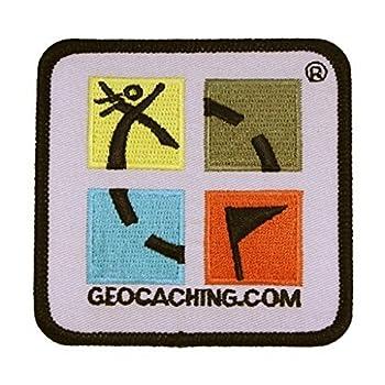 Geo de Livraison Rétro de Patch écusson Logo Geocaching coloré, Multicolore, Taille Unique