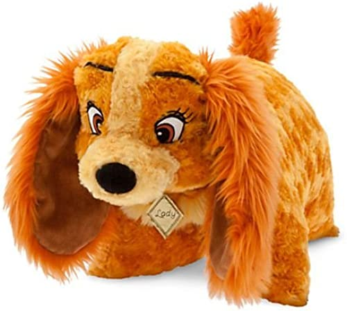 Disney Parks Lady the Dog Pillow Pal Plush Pet Doll NEW LOOK and the Tramp by Disney