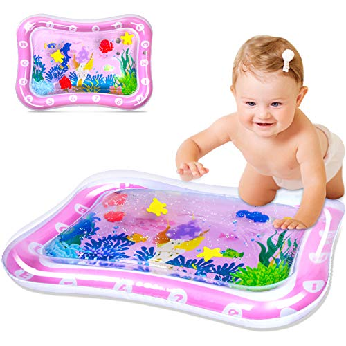 SEPHIX Baby Stuff for Newborn Toys 0-3-6-12 Months Girls Gifts, Infant Toys 0-6 Months Crawling Inflatable Water Tummy Time Mat, Montessori Activity Center for Babies Development Toys 6 to 12 Months