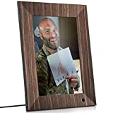 NIX Lux 10 Inch Digital Picture Frame With Real Wood Finish - HD Display, Auto-rotate, Motion Sensor and USB/SD Card Supported