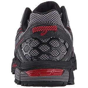 ASICS Men's Gel-Kahana 8 Trail Runner, Shark/Black/True Red, 12 M US