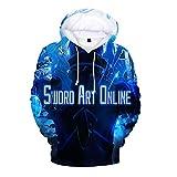 Aivosen Sword Art Online Sudaderas Estilo de los Deportes Sudadera con Capucha Creativa Animado Impreso Informal Camisa de Entrenamiento for Adultos y niños Sweater (Color : A04, Size : 160)