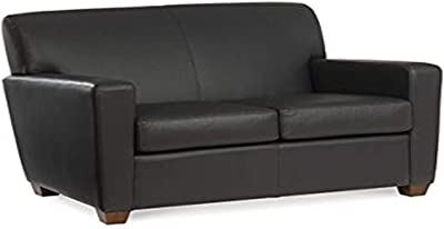 Flash Furniture Hercules Imperial Series Black Leathersoft Loveseat Furniture Decor