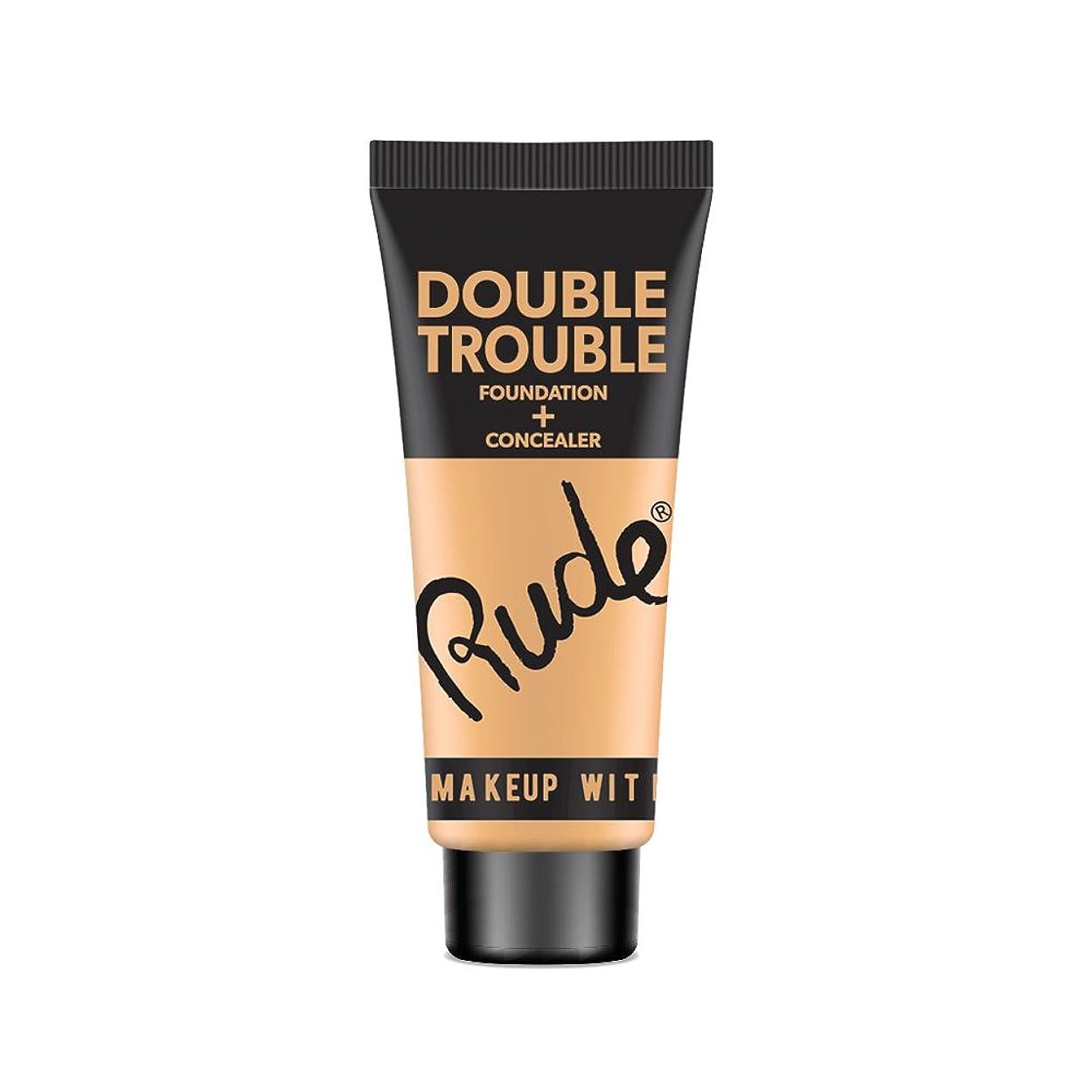ダメージ六分儀ホステスRUDE Double Trouble Foundation + Concealer - Ivory (並行輸入品)