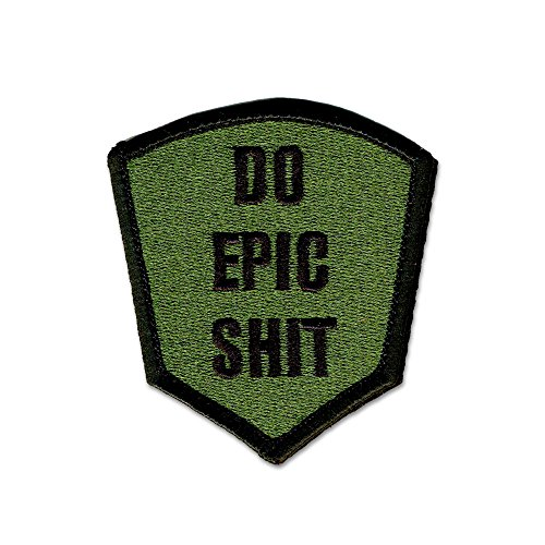 BASTION Morale Patches (Do Epic Sxxx, ODG) | 3D Embroidered Patches with Hook & Loop Fastener Backing | Well-Made Clean Stitching | Military Patches Ideal for Tactical Bag, Hats & Vest