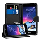 LG K8 2017 M200N Cases - Premium Black Wallet Leather Flip
