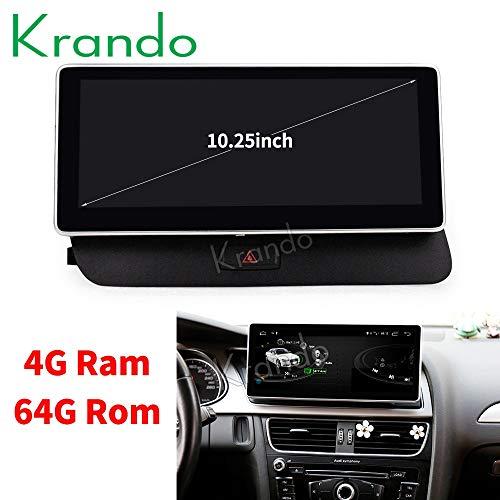 Krando - Radio para coche Android 8.1 de 10,25' para Audi Q5 2009-2015 4+64G Low