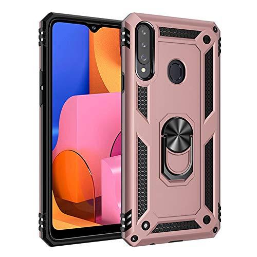 QiuKui For Samsung Galaxy Case A10 A20 A30 A40 A50 A70 A10E A20E Armadura del imán de Coche for A10S A20S A30S A50S A01 A11 A21 A31 A41 A51 A71 (Color : Navy, Material : For A70)