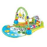 Sufei Baby Krabbeldecke Mit Spielbogen Mit Musik, Fitness-Spiel-Matte Musical Piano Gym Zentren Early Education Spielzeug Für Kleinkinder Kleinkinder Neugeborenen Alter 0-18 Monate