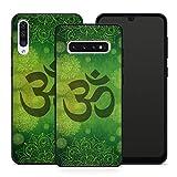 Handyhülle Mandala für Samsung Silikon MMM Berlin Hülle Hippie Yin Yang Goa Om Buddha Peace Yoga, Kompatibel mit Handy:Samsung Galaxy A51, Hüllendesign:Design 1 | Silikon Schwarz