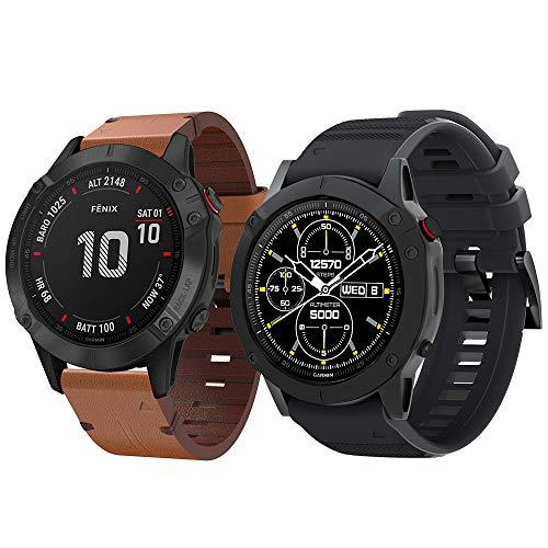 SUPORE Fenix 6 Armband - Quick Fit Weiches Sportarmband Uhr Band Strap Ersatzarmband Uhrenarmband für Instinct/Fenix 6 Pro/Fenix 5/Forerunner 935/Approach S60