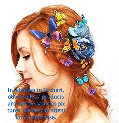 Women Lady Bridal Butterfly Hairclip Beautiful Colorful Butterflies...