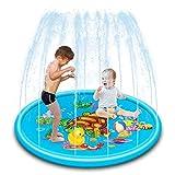 【MATERIALE】: la sicurezza del tuo bambino è la nostra massima priorità. Realizzato in PVC resistente, ecologico, atossico, privo di BPA e ftalati. Lo spruzzatore gonfiabile per paraspruzzi è un'ottima alternativa alla tua piscina tradizionale per bam...