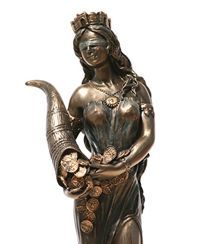 Statue Déesse Fortune Tyche Luck Fortuna Sculpture Figurine 7.28