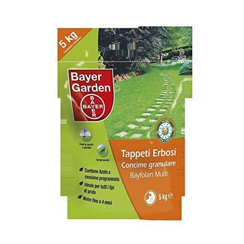 BAYFOLAN Multi CONCIME TAPPETI ERBOSI Prati LENTA CESSIONE Bayer kg 5