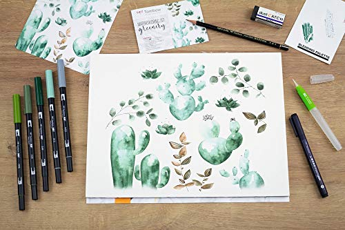 Tombow Watercolouring Set - Greenery |