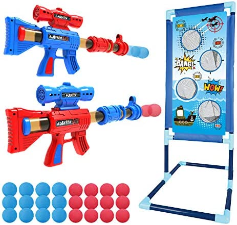 YEEBAY Shooting Game Toy for Age 5 6 7 8 9 10 Years Old Kids Boys 2pk Foam Ball Popper Air Guns product image
