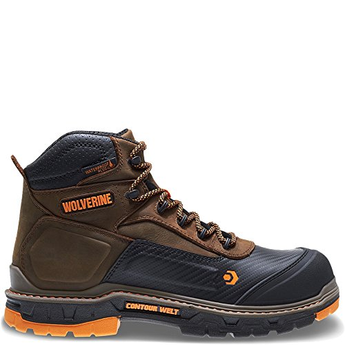 Wolverine Men's Overpass 6' Composite Toe Waterproof Work Boot, Summer Brown, 11 M US