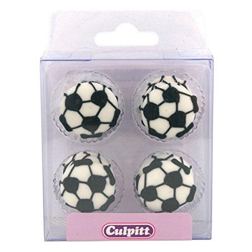 Culpitt Fußball Zuckerpipings – Einzeln, mehrfarbig, 6425