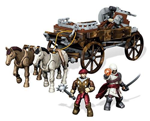Mega Bloks Mattel CNG12 - Assassin's Creed, Kit di Costruzione per Collezionisti Inseguimento con carro