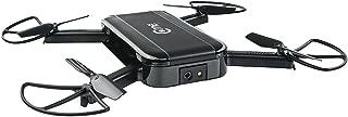 C-me Cme Social Media Flying Camera: Folding Mini Pocket Selfie Drone with WiFi, GPS, 8MP Digital Camera, and Full HD 1080p Video, Black