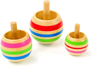 3pcs Wood Flip Over Top Tippie Top Spinning Top Magic Toy Kids Toys Boys Favor Gift