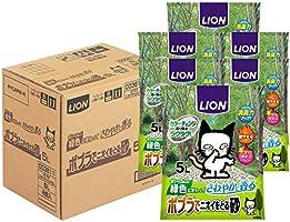 ライオン (LION) ポプラでニオイをとる砂 猫砂 5Lx6袋 (ケース販売)